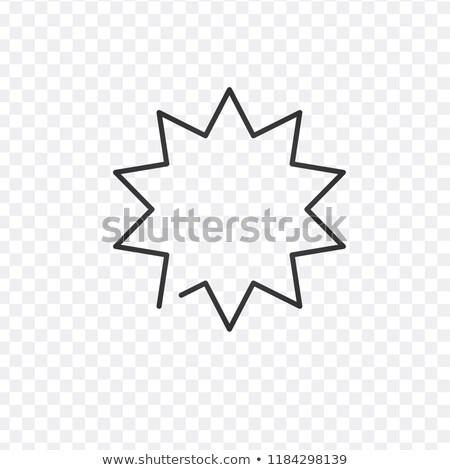Bulle linéaire icône explosion illustration star Photo stock © kyryloff