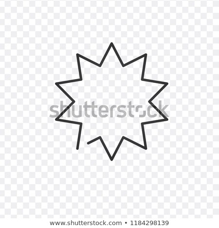 Tekstballon lineair icon explosie illustratie star Stockfoto © kyryloff