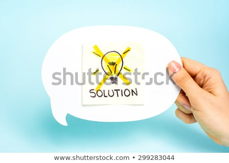 solved not unsolved solution concept stock photo © ivelin