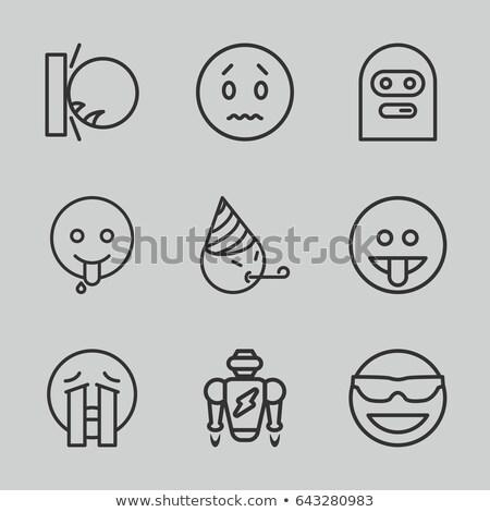 rajz · szomorú · robot · néz · gép - stock fotó © cthoman