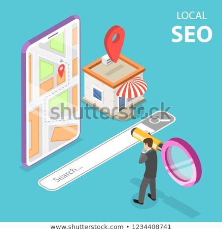 изометрический вектора местный seo магазине электронной коммерции Сток-фото © TarikVision