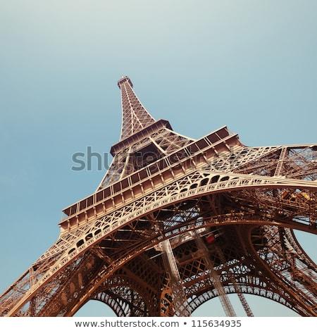 スカイライン · パリ · エッフェル塔 · 市 · 屋根 - ストックフォト © givaga