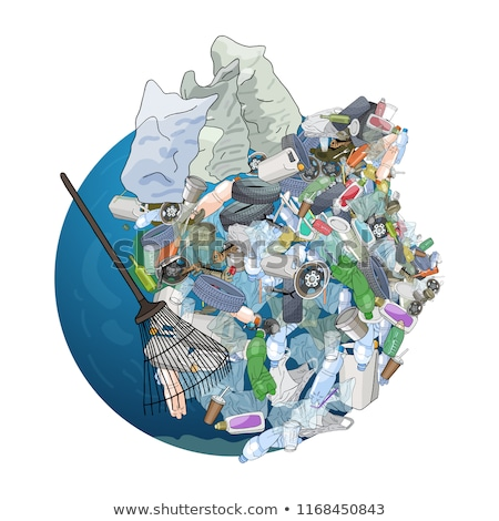 plastic trash. Ecology and pollution Stock photo © studiostoks