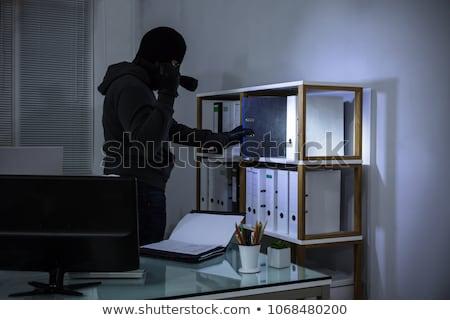 Tolvaj elemlámpa lop akta néz akták Stock fotó © AndreyPopov