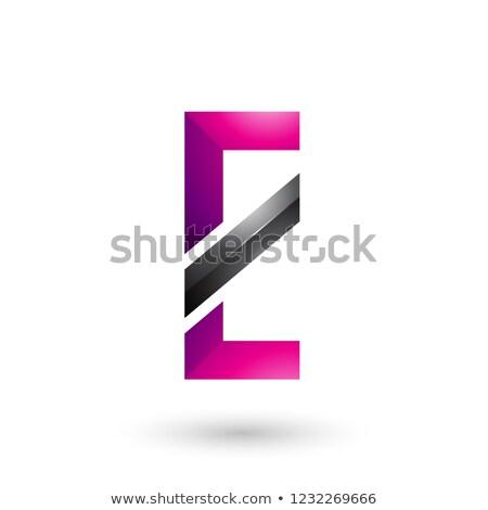 Magenta preto diagonal linha vetor Foto stock © cidepix