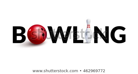 Spelling word game with word bowling Stock photo © colematt