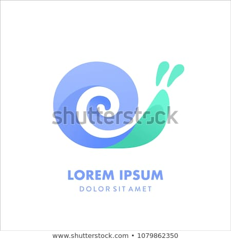 Coloring template with cute snail Stock photo © colematt