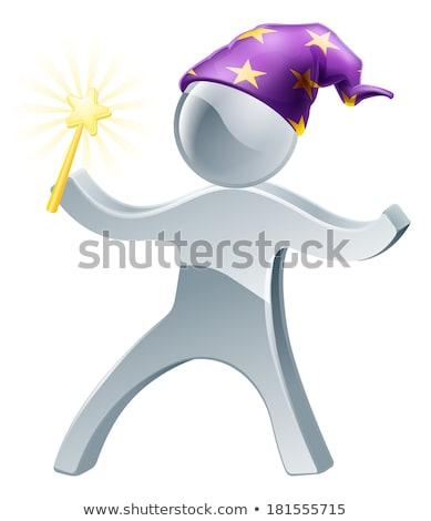 Wizard With Stars Mascot Stock photo © patrimonio