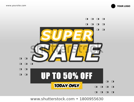 Super verkoop exclusief bieden online banners Stockfoto © robuart