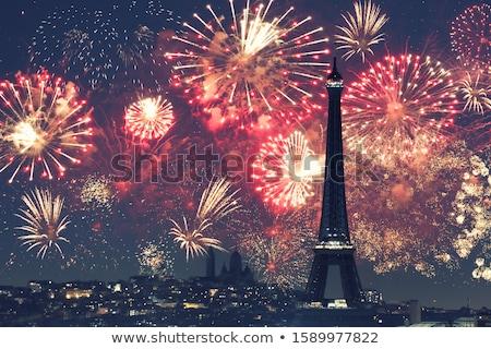 Eyfel Kulesi gece Paris Fransa 24 Stok fotoğraf © vapi