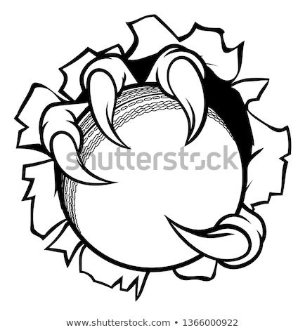 karikatür · canavar · pençe · delik · kâğıt · el - stok fotoğraf © krisdog
