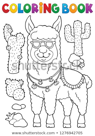 Llama with sunglasses theme image 1 Stock photo © clairev