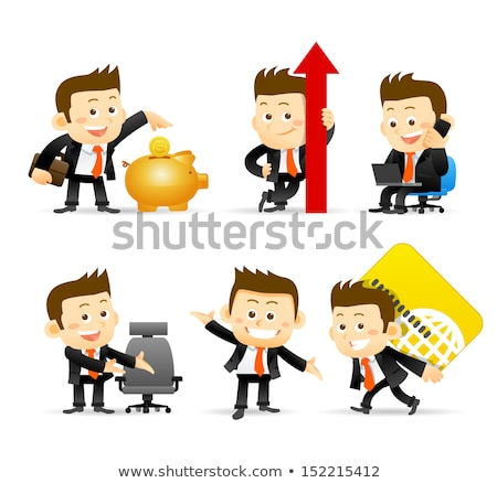 Smiling Golden Coin Cartoon Character For Business And Finance Concepts Stock photo © hittoon