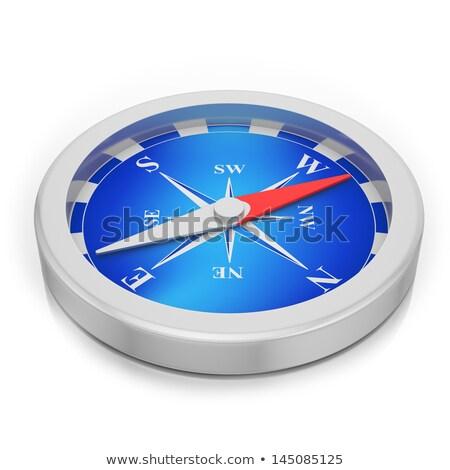 コンパス 白 陽性 マグネチック 針 ポインティング ストックフォト © make