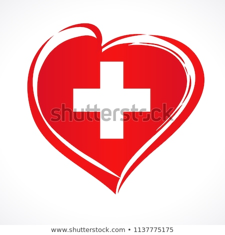 флаг Швейцария формы сердца иллюстрация дизайна фон Сток-фото © colematt