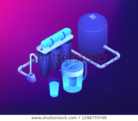 Water filtering system concept vector isometric illustration. Stock photo © RAStudio