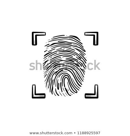 Ujjlenyomat keret kézzel rajzolt skicc firka ikon Stock fotó © RAStudio