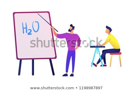 water · formule · chemische · wetenschap · structuur · abstract - stockfoto © rastudio