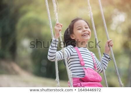 アジア 少女 遊び場 率直な 瞬間 ストックフォト © szefei