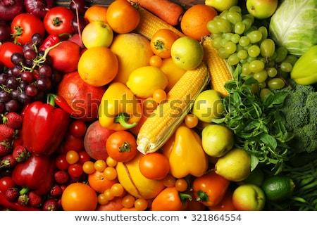 Sortiment gelb orange Früchte Gemüse top Stock foto © furmanphoto