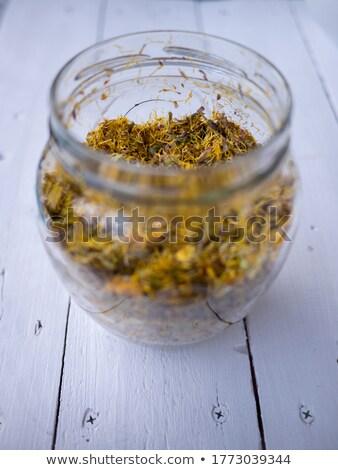 voorbereiding · siroop · vers · bloemen · jar · riet - stockfoto © madeleine_steinbach