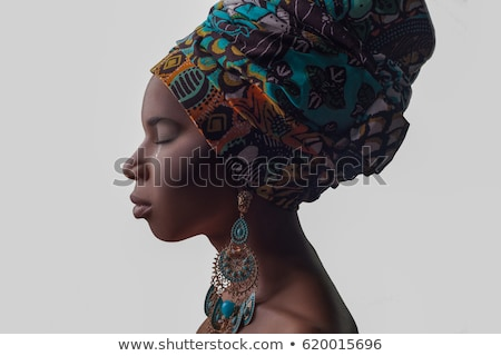 Portrait of a scared young african woman Stock photo © deandrobot