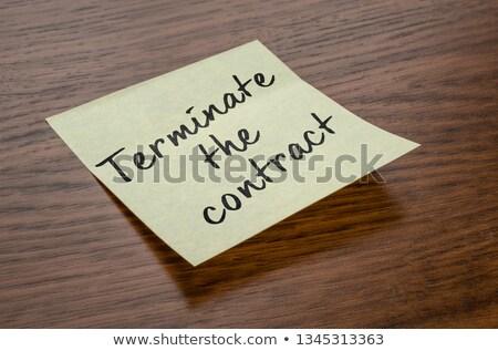 öntapadó jegyzet szöveg szerződés üzlet papír ügyvéd Stock fotó © Zerbor