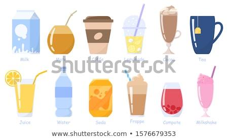 vector set of beverage cup stock photo © olllikeballoon