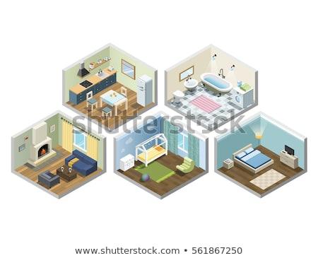 набор различный дома иллюстрация воды домой Сток-фото © colematt