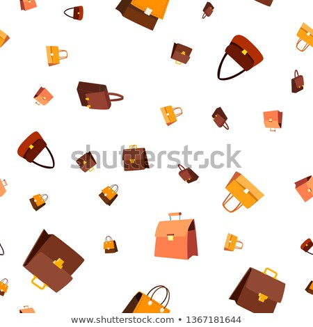Leather Bag Seamless Pattern Vector. Fashion Accessory. Elegance Style. Cute Graphic Texture. Textil Stock foto © pikepicture