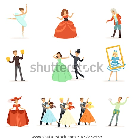 Music Performers, Singing Characters Man and Woman Stock photo © robuart