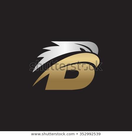 Brief adelaar hoofd logo creatieve logo-ontwerp Stockfoto © krustovin