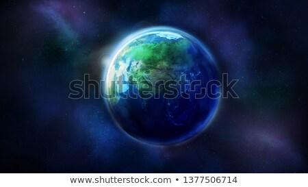 Réaliste terre espace Asie monde Photo stock © ConceptCafe