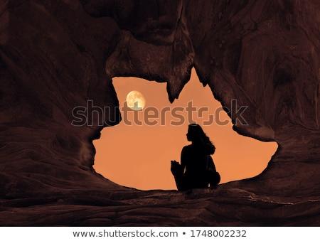 Fantasía personas cueva ilustración agua forestales Foto stock © bluering