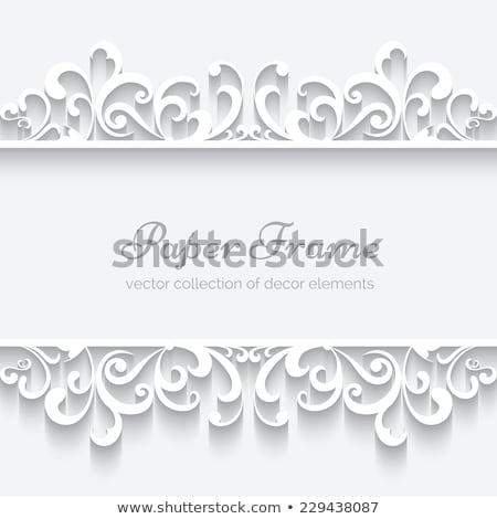 Vektor csipke végtelen minta retro esküvő keret Stock fotó © RedKoala