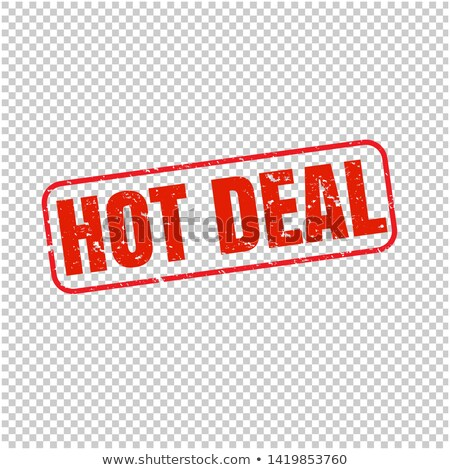 hot deal stamp isolated transparent background stock photo © barbaliss