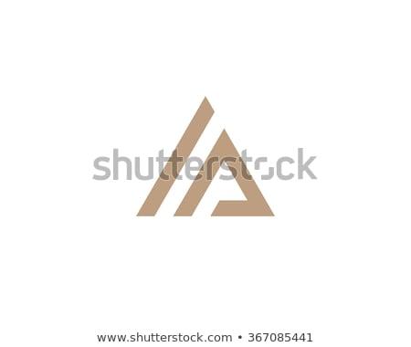 creativa · montana · diseño · de · logotipo · tipografía · etiqueta · azul - foto stock © Vicasso