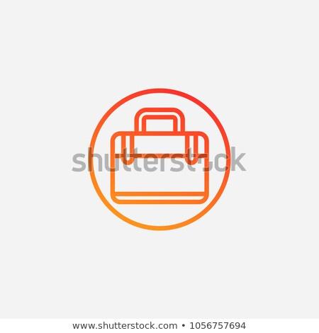 портфель икона вектора изолированный белый Сток-фото © smoki