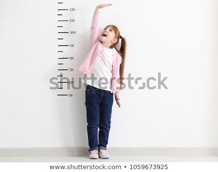 Gyerek mér növekedés kicsi gyermek játszik Stock fotó © choreograph