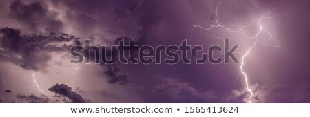 Onweersbui storm urban scene illustratie hemel gebouw Stockfoto © colematt