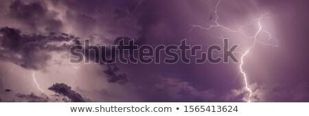 A thunderstorm storm urban scene Stock photo © colematt