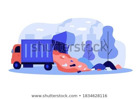 chemische · recycling · landing · pagina · zakenvrouw · plastic - stockfoto © RAStudio