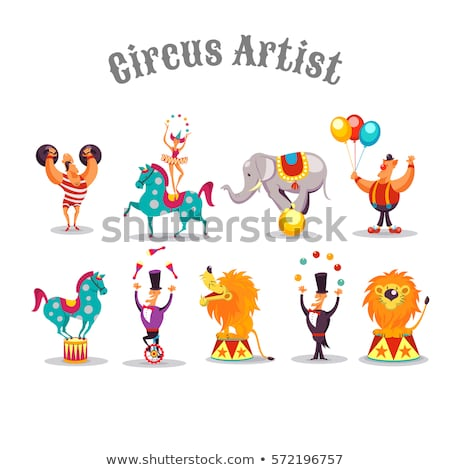 Set of circus character Stock photo © bluering