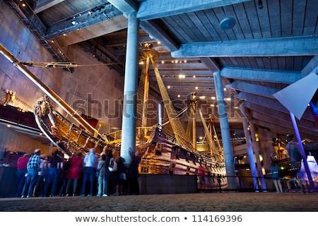 Hajó múzeum Stockholm Svédország ép város Stock fotó © borisb17