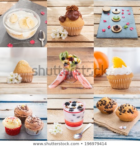 Food collage. Different dishes with strawberry. stock photo © furmanphoto
