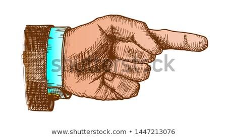Color Male Hand Make Gesture Forefinger Vintage Vector Stock photo © pikepicture
