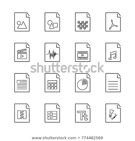 Dosyaları · format · dizayn · güvenlik · imzalamak - stok fotoğraf © robuart