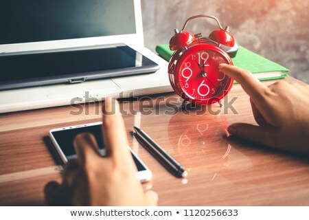Business team hands at working with business plan and a tablet o stock photo © Freedomz