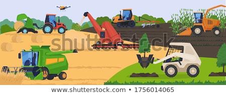 Agrarisch machines trekker hooi vector Stockfoto © robuart