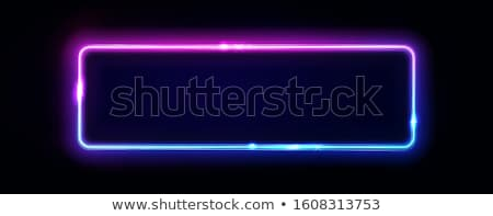 Signboard with Light, Geometrical Frame Vector Stock photo © robuart